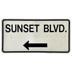 Large Sunset Blvd Street Sign