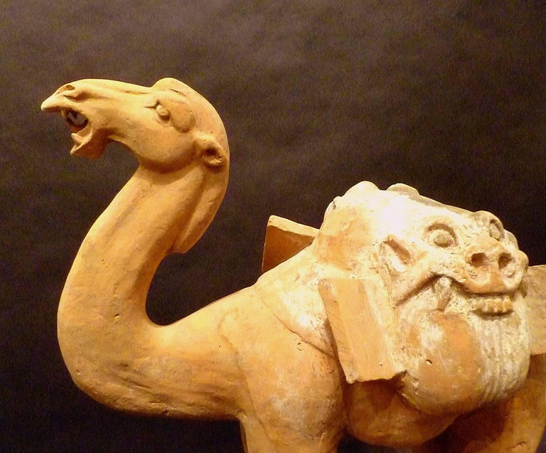 Hand-Crafted Large Superbly and Naturalistic Modeled Standing Camel, Tang Dynasty TL Tested For Sale
