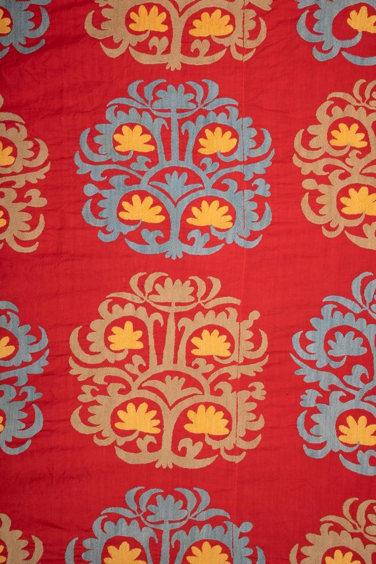 Embroidered Large Suzani from Samarkand Uzbekistan, 1970s For Sale