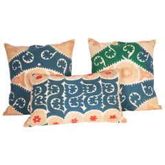 Large Suzani Pillow Cases Made from a Vintage Uzbek Suzani, 1960s