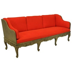 Large Swedish Carved and Painted Daybed or Settee