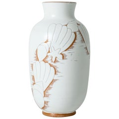 Large Swedish ceramic earthenware vase by Anna-Lisa Thomson for Upsala-Ekeby