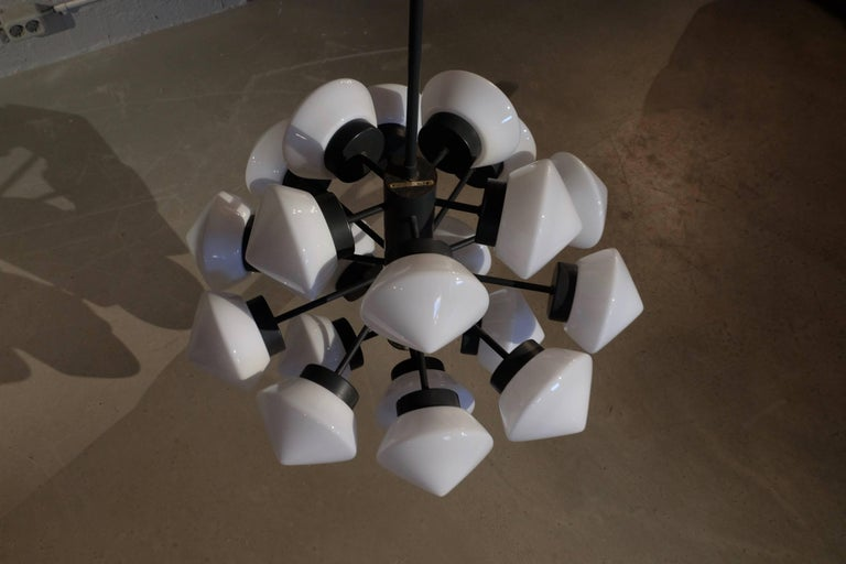 Large Swedish Chandelier, 1960s In Excellent Condition For Sale In Stockholm, SE