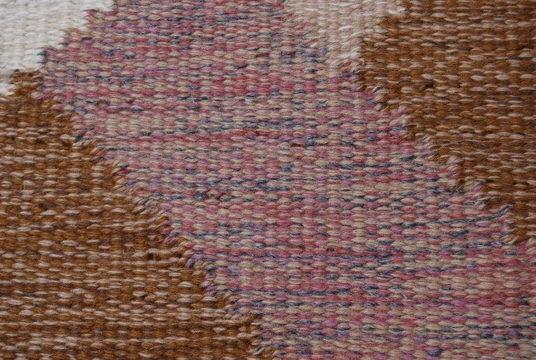 Hand-Woven Large Swedish Flat-Weave Rölakan Rug Aniara by Anna Johanna Ångström, 1960s