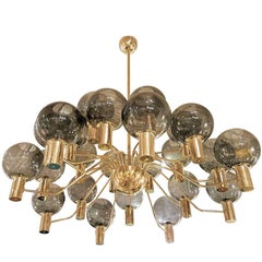 Large Swedish Mid-Century Modern Chandelier Attributed to Hans-Agne Jacobsson
