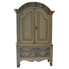 Large Swedish Painted Cupboard, circa 1810