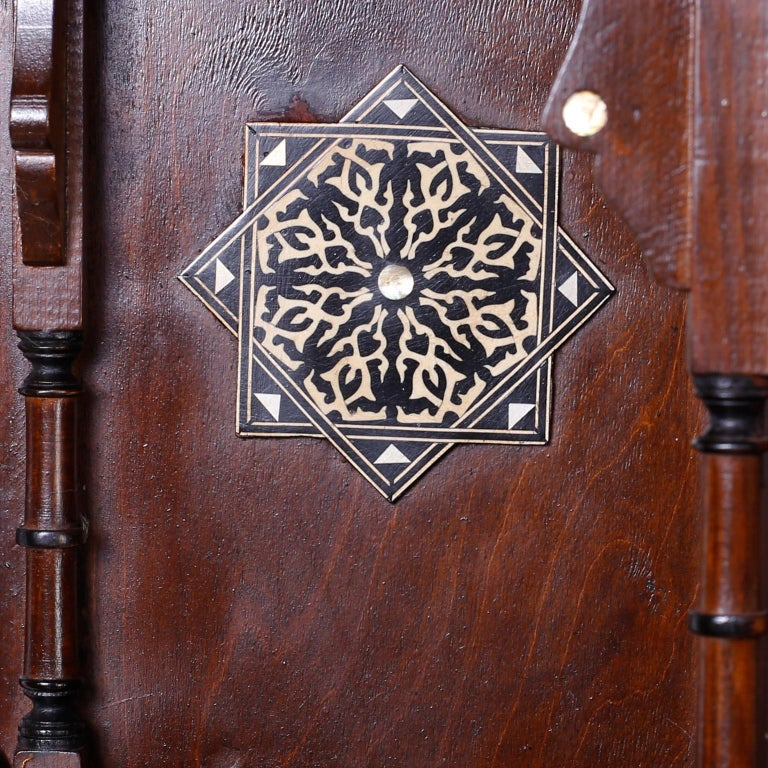 20th Century Large Syrian Inlaid Wall Cabinet or Shelf For Sale