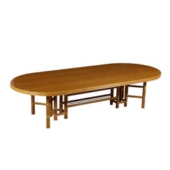 Large Table for McGuire Leather Bamboo Vintage USA, 1980s