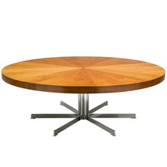 Large Table in Walnut and Metal, 1970s