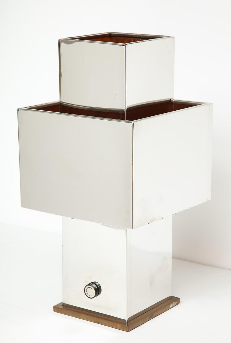 Large Table Lamp by Willy Rizzo For Sale 3