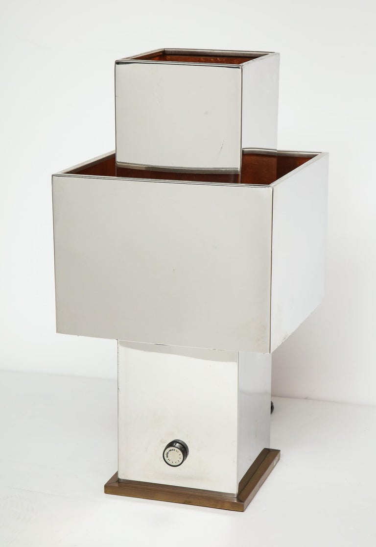 Large Table Lamp by Willy Rizzo In Good Condition For Sale In New York, NY