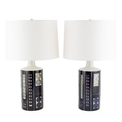 Large Table Lamps by Inge-Lise Koefoed for Fog & Mørup, Circa 1960s