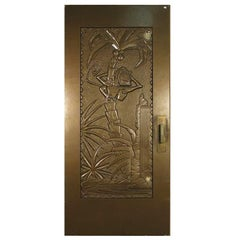 "Large Tall Gold Coco Bongo Art Deco Prop Door from ""The Mask"""