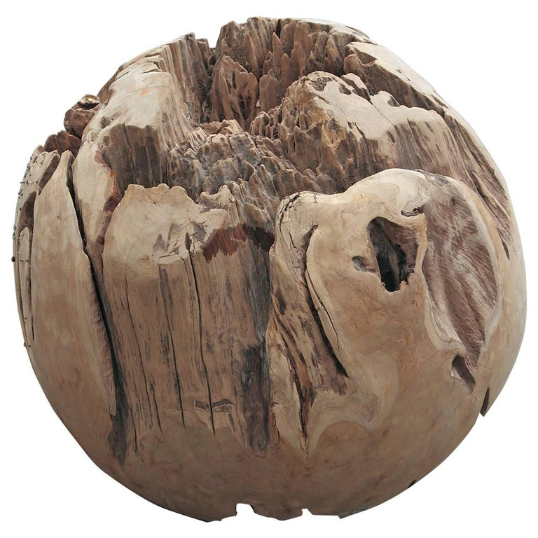 Large Teak Balls for Home Decor or Garden Accessories