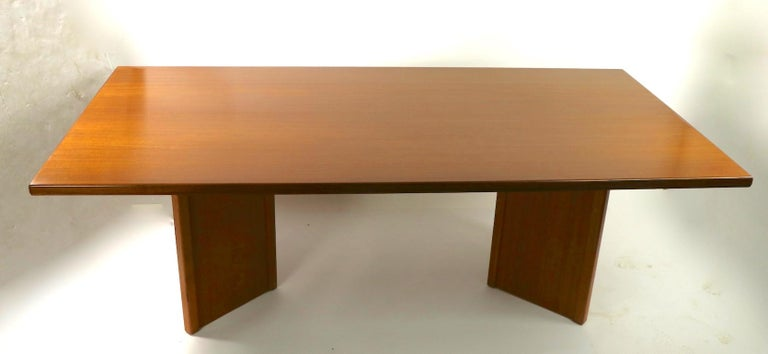 Large Teak Danish Mid Century Conference Dining Table For Sale 5