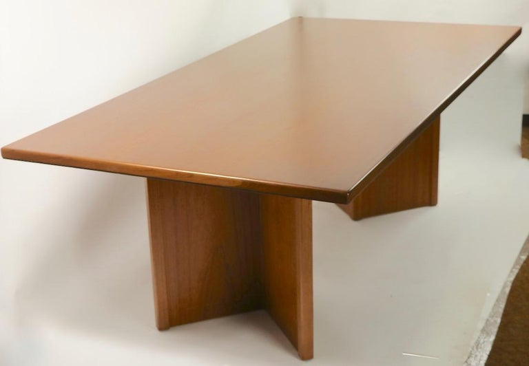 Large Teak Danish Mid Century Conference Dining Table For Sale 8