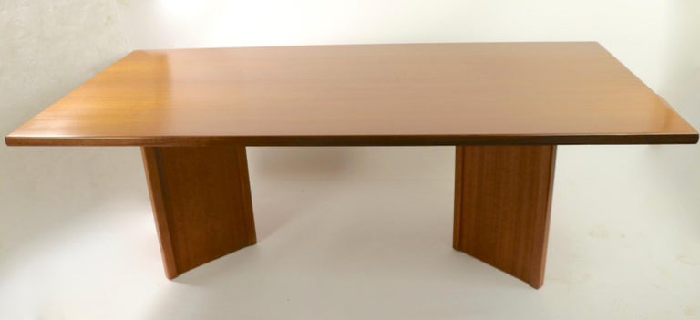 Large Teak Danish Mid Century Conference Dining Table For Sale 1