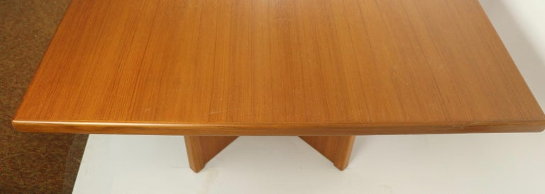 Large Teak Danish Mid Century Conference Dining Table For Sale 3