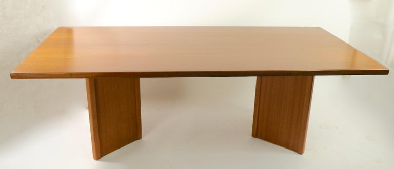 Large Teak Danish Mid Century Conference Dining Table For Sale 4
