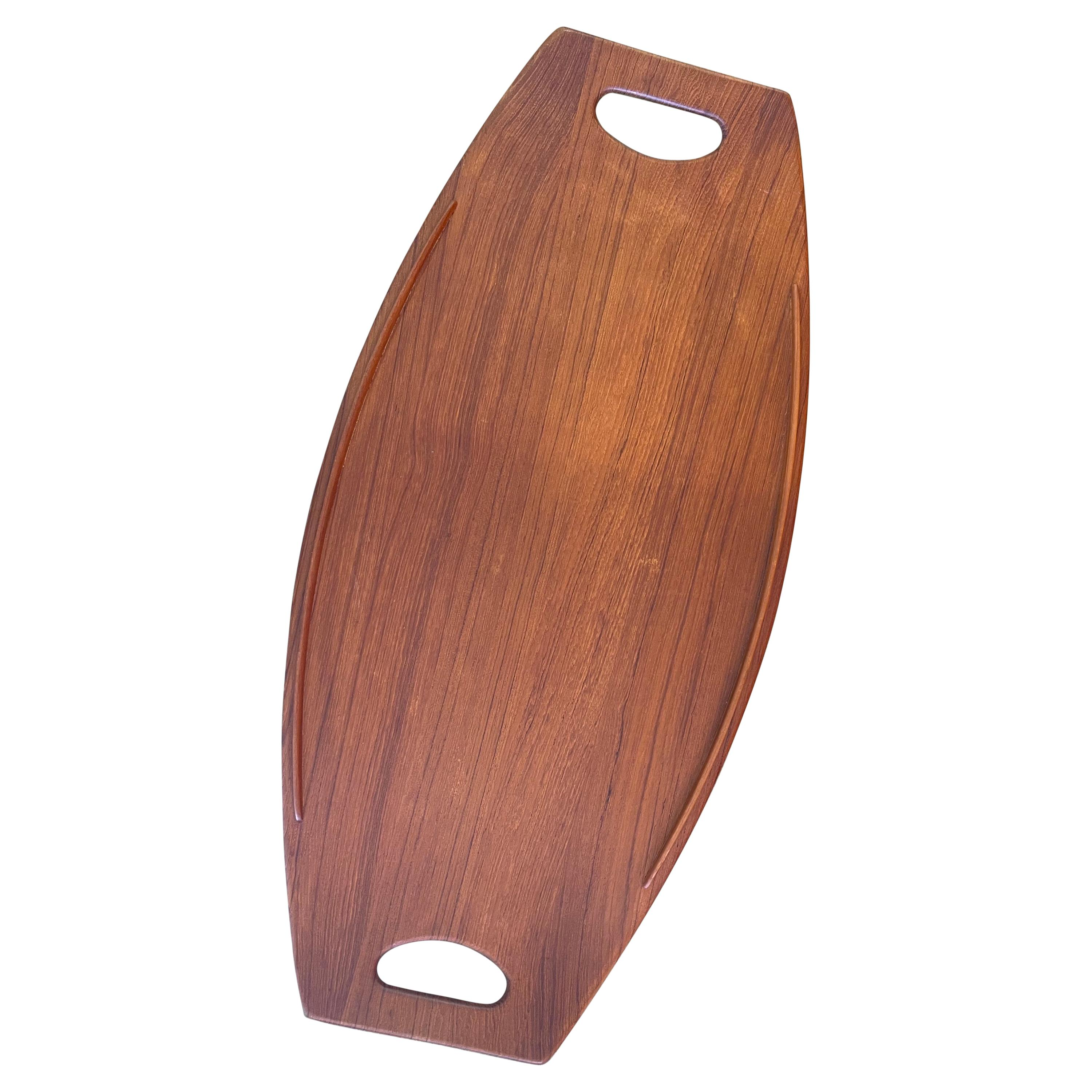 Large Teak Gondola Tray by Jens Quistgaard for Dansk, Early Production