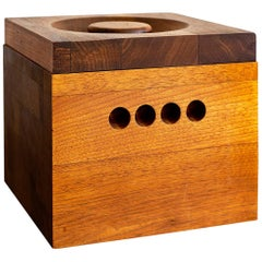 Large Teak Ice Bucket