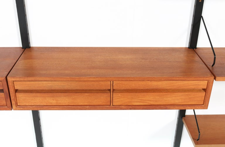Large Teak Mid-Century Modern Royal Wall Unit by Poul Cadovius, 1950s 4