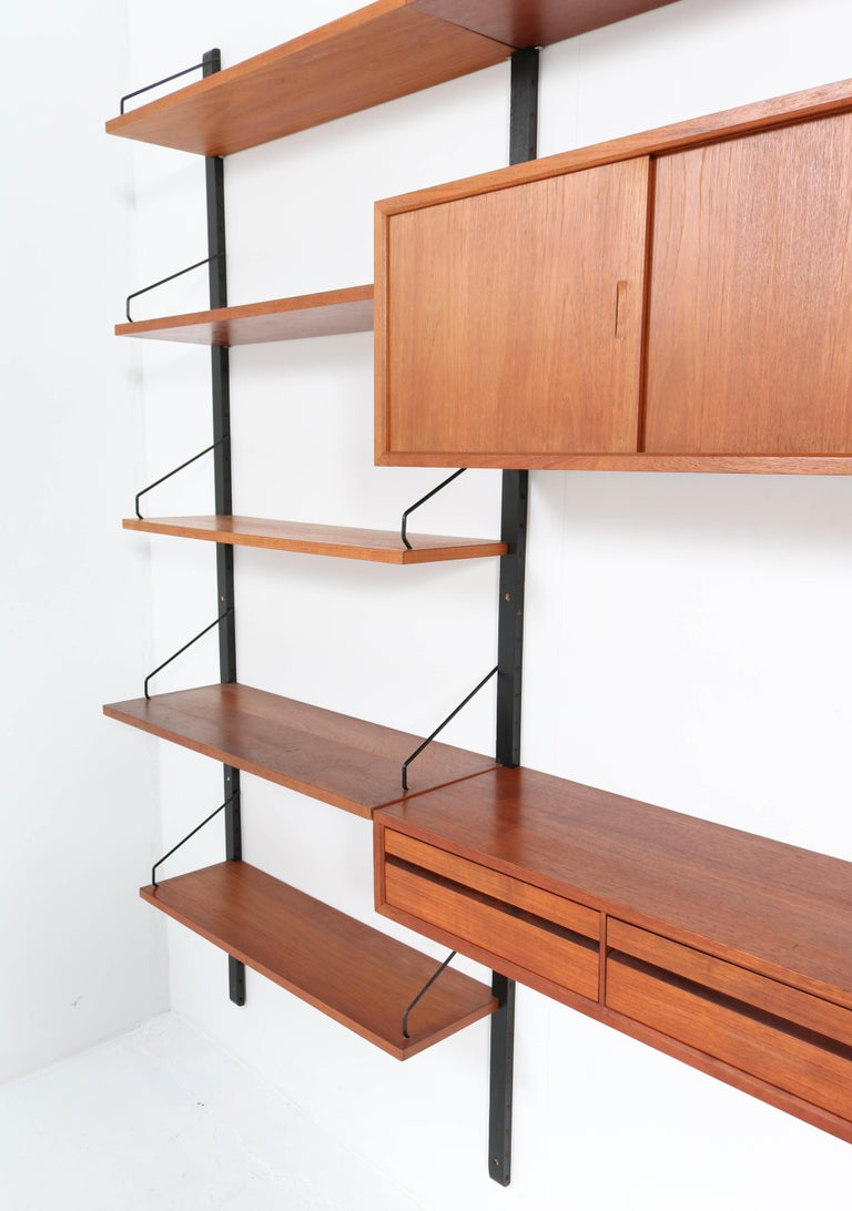 Large Teak Mid-Century Modern Royal Wall Unit by Poul Cadovius, 1950s 5