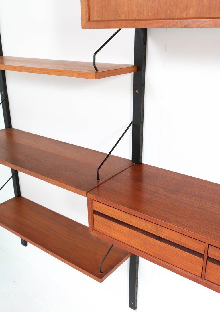 Large Teak Mid-Century Modern Royal Wall Unit by Poul Cadovius, 1950s 6