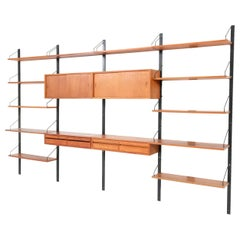 Large Teak Mid-Century Modern Royal Wall Unit by Poul Cadovius, 1950s