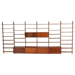 Large Teak Mid-Century Modern Royal Wall Unit by Poul Cadovius for Cado, 1960s