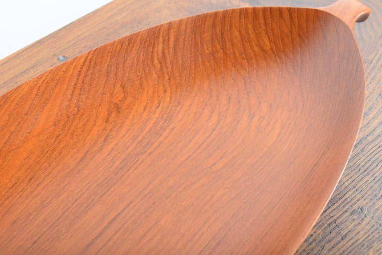 Large Teak Tray from Denmark For Sale 3