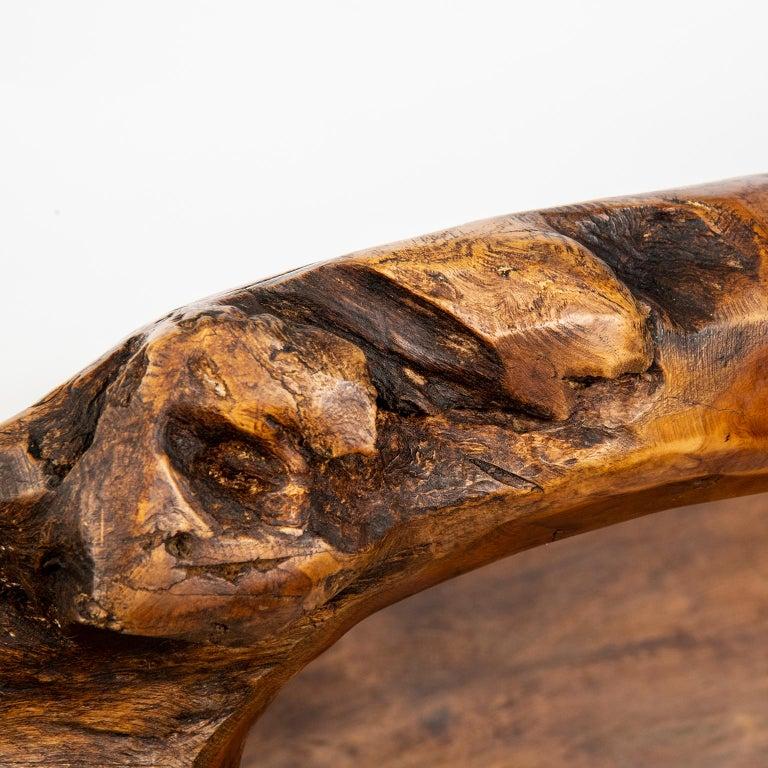 Large Teak Wood Handled Vessel or Platter For Sale 3