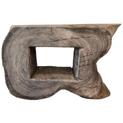 Large Teak Wood Root Console or Coffee Table for Inside or Outside