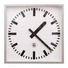 Large 'Telefonbau Normalzeit' German Station Clock, c.1970
