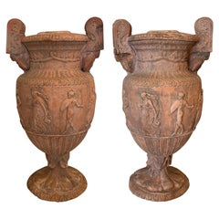 Large Terracotta Classical Urns