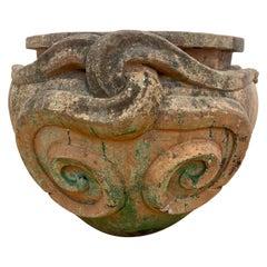 Large Terracotta Compton Snake Pot