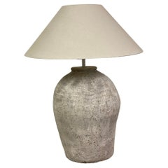 Large Terracotta Jar Lamp/Base Only