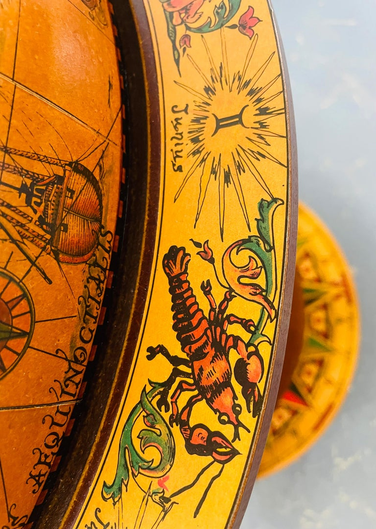 Large Terrestrial and Celestial Globe with Astrological Signs, Circa 1970 For Sale 3