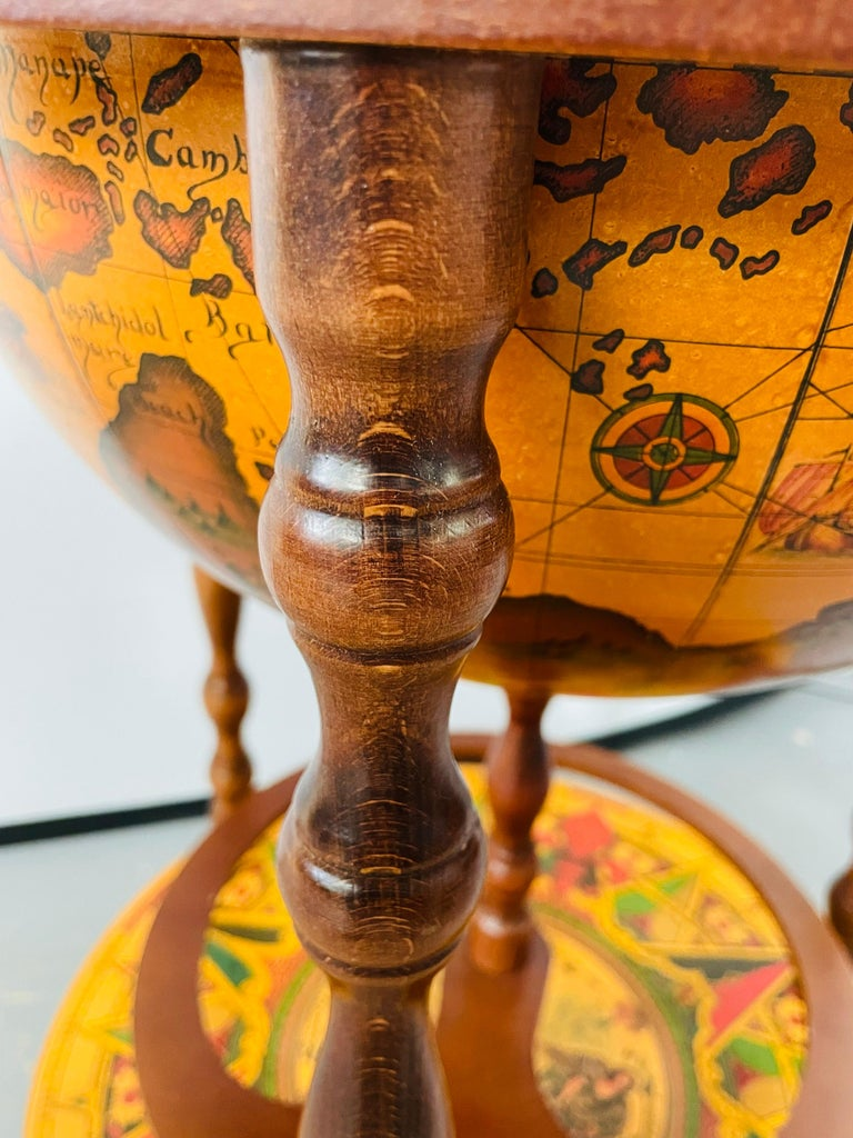 Large Terrestrial and Celestial Globe with Astrological Signs, Circa 1970 For Sale 4