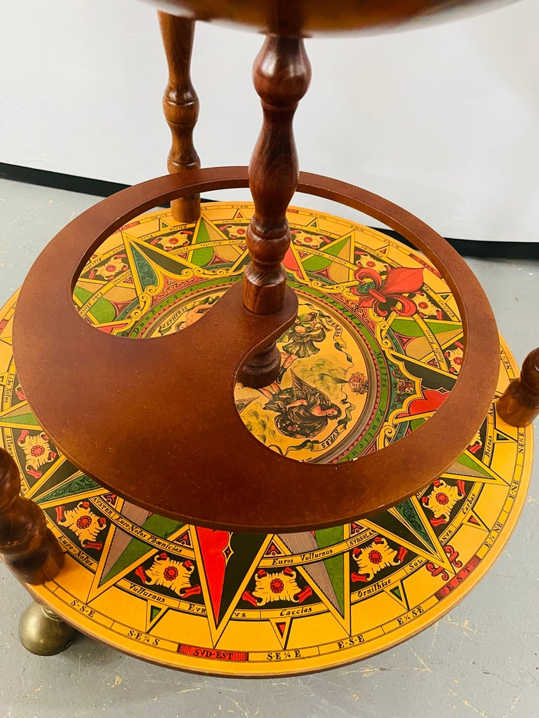 Large Terrestrial and Celestial Globe with Astrological Signs, Circa 1970 For Sale 6