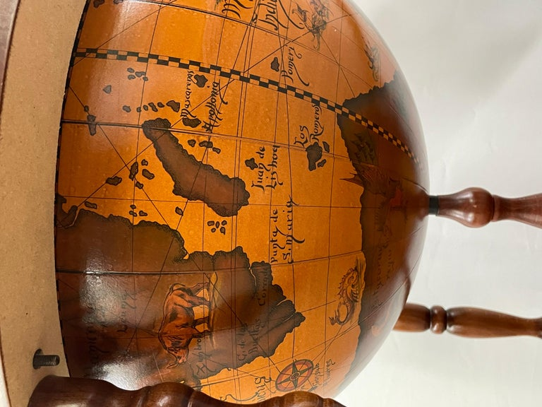 Large Terrestrial and Celestial Globe with Astrological Signs, Circa 1970 For Sale 10