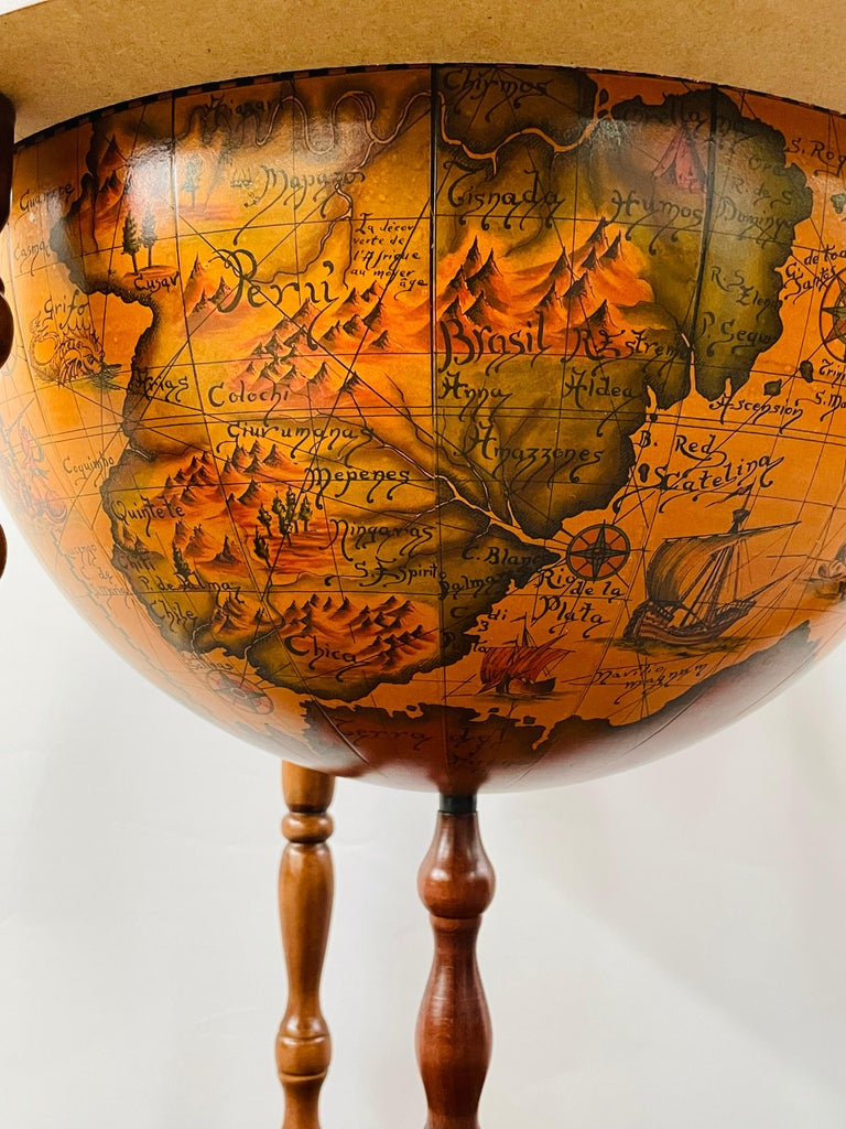 Large Terrestrial and Celestial Globe with Astrological Signs, Circa 1970 For Sale 11