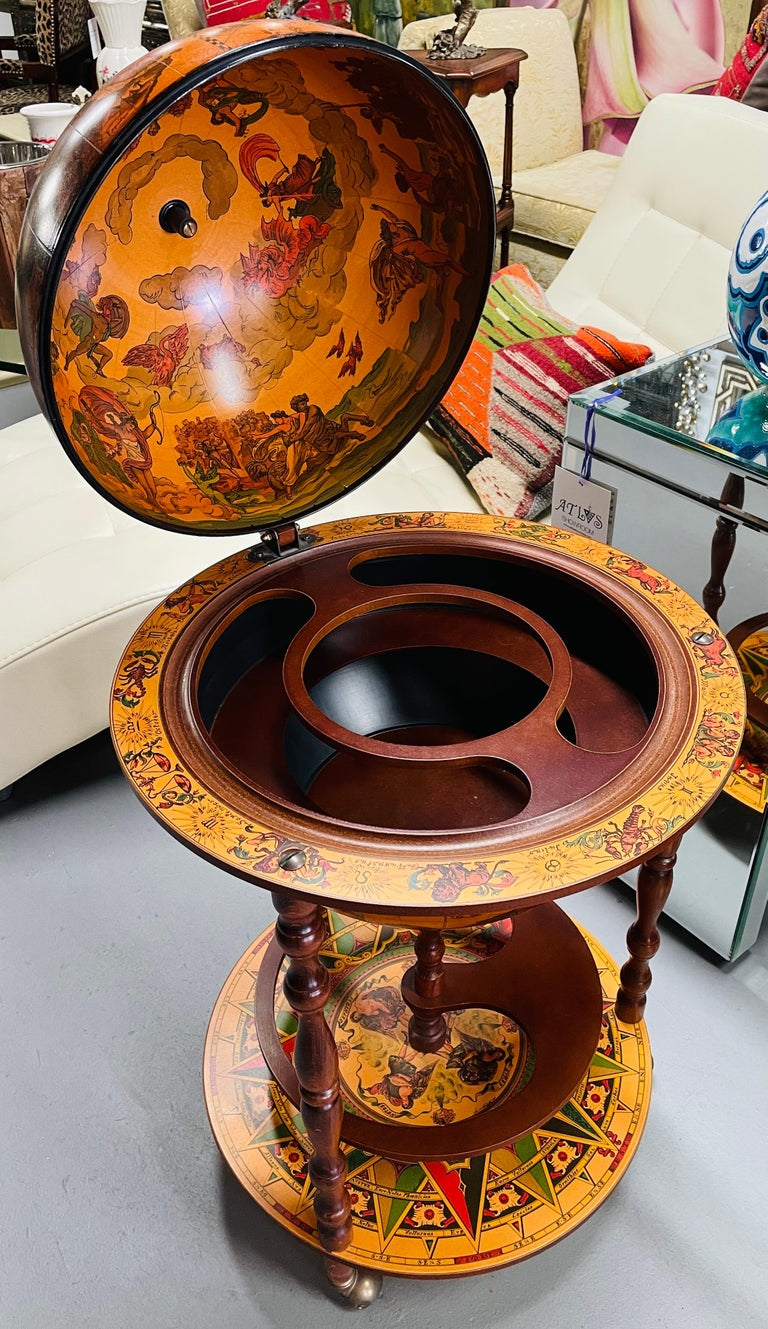 Large Terrestrial and Celestial Globe with Astrological Signs, Circa 1970 For Sale 13