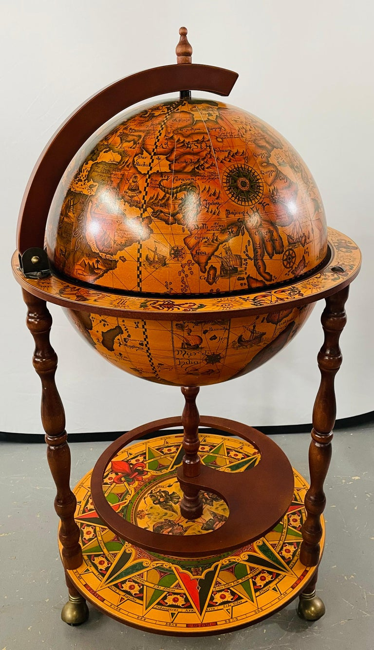American Classical Large Terrestrial and Celestial Globe with Astrological Signs, Circa 1970 For Sale