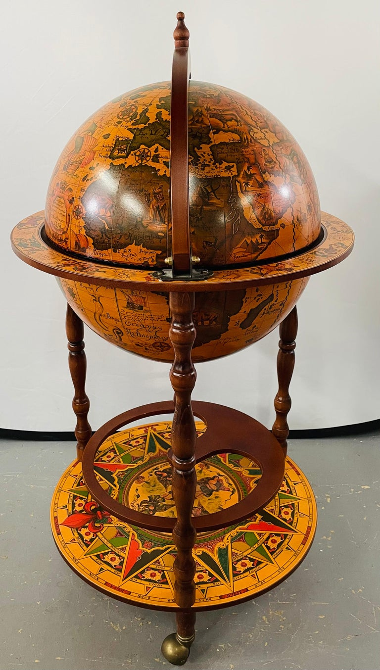 American Large Terrestrial and Celestial Globe with Astrological Signs, Circa 1970 For Sale