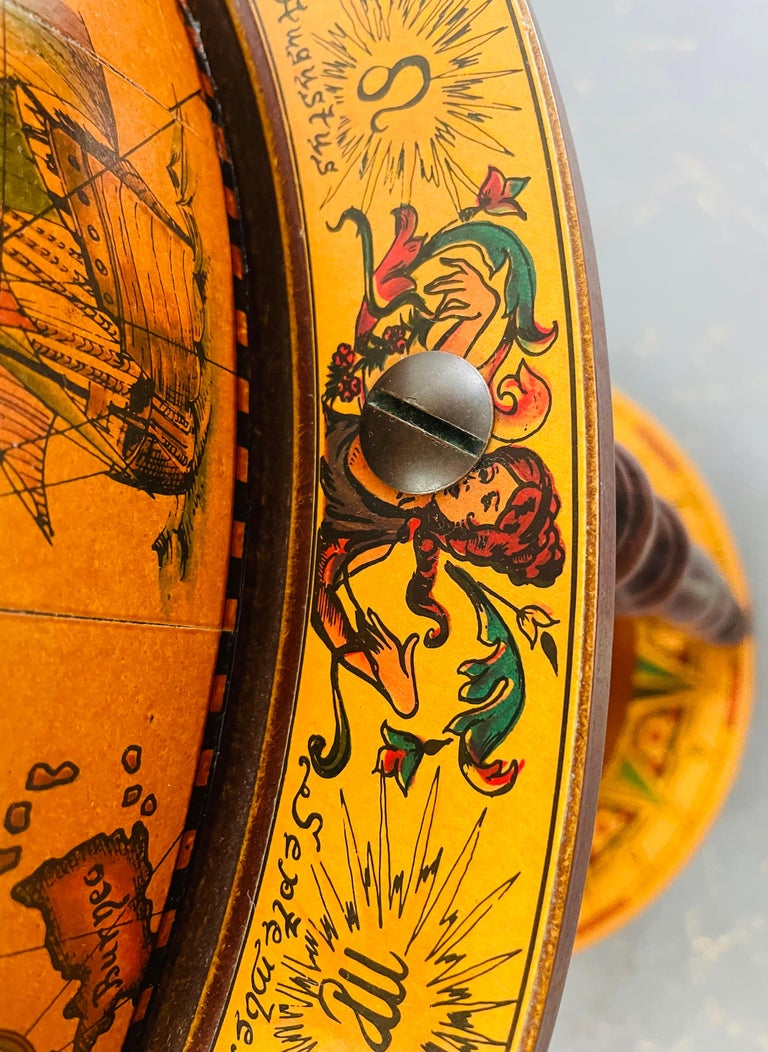 Large Terrestrial and Celestial Globe with Astrological Signs, Circa 1970 For Sale 2