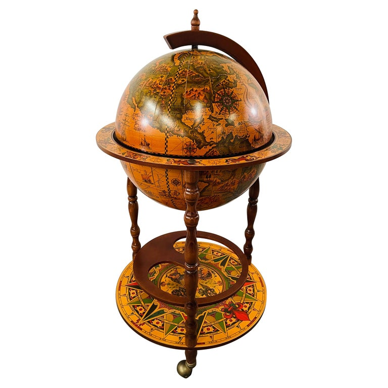 Large Terrestrial and Celestial Globe with Astrological Signs, Circa 1970 For Sale