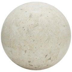 Large Tessellated Matte Mactan Stone Sphere - 10.5 in. Diameter