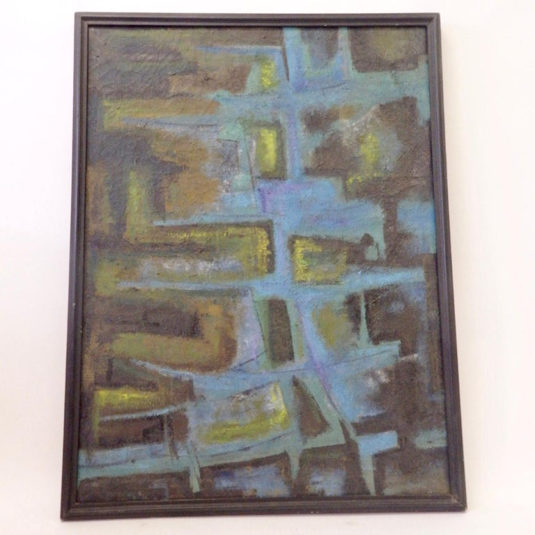 American Large Textured Abstract Oil Painting by Robert Berger For Sale