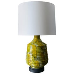 Large Textured Ceramic Table Lamp, circa 1975